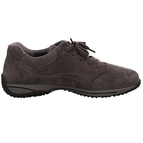 Antracita Zapatos nobuck gris gris de para cuero de Gabor mujer cordones vq4Swwa