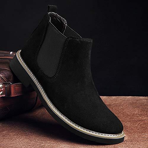 Classic Uomo Traspiranti Pelle Safety Martin Oxblood Stivali Brogue Nero Pelle Boots Black Chelsea Autunno in Stivali da Neve x0w6a5qAXW