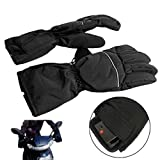 Upgraded Heated Gloves, Waterproof Heated Gloves Battery Powered for Motorcycle Hunting Winter Warmer Electric Ski Motorcycle Snow Mitten Glove Arthritis