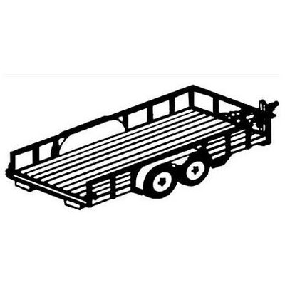 Trailer Blueprints - 16Ft. Tandem Lowboy Trailer by Northern Tool & Equipment