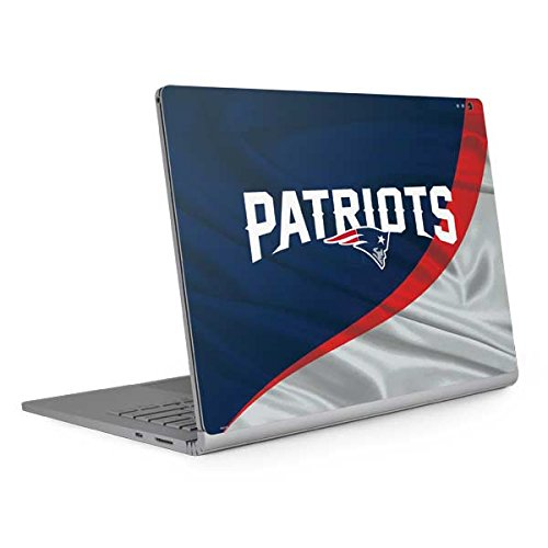 Skinit New England Patriots Surface Book 2 15in Skin - Officially Licensed NFL Laptop Decal - Ultra Thin, Lightweight Vinyl Decal Protection