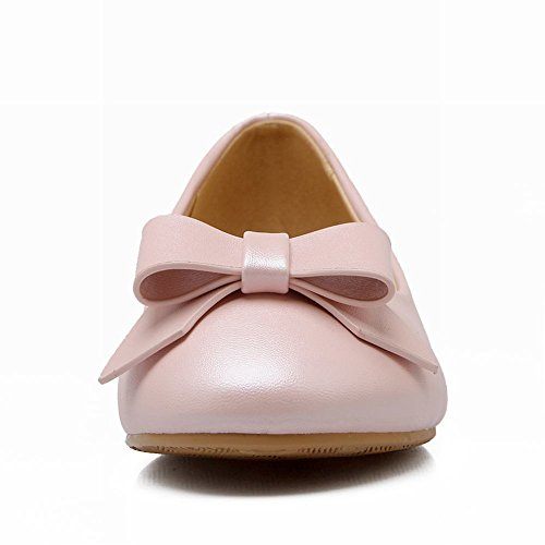 Womens Flats Pink Lovely Cute Sweet Casual Lolita Carolbar Dress Shoes Bows fxwHnfd
