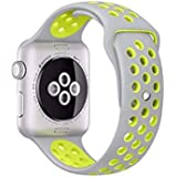 Sport Silicone Strap for Nike Apple watch band 38mm bracelet