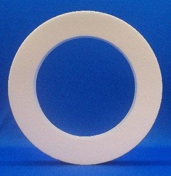 8 pc Styrofoam EPS Polystyrene WREATHS 16'' X 2'' White Craft Floral Ring