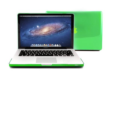 GMYLE (R) Green Clear Crystal See Thru Hard Shell Clip Snap On Case Skin Cover for Apple 13.3
