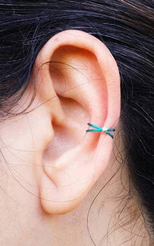 Double Faux Piercing - No Piercing Ear Cuff - Double Ear Cuff - Fake Piercing Jewelry - Silver Ear Cuff - Conch Ear Cuff