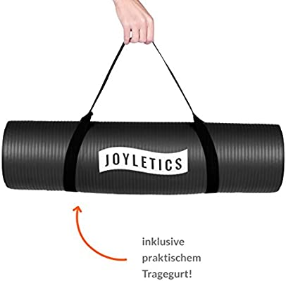 Joyletics® Colchoneta de Yoga »100« Esterilla Antideslizante Ideal para Yoga, Pilates o Gimnasia - práctica y Ligera