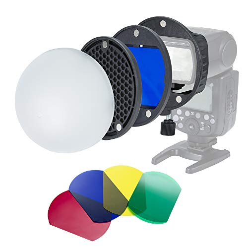 INSSTRO Flash Diffuser Light Softbox Speedlite Flash Accessories Kit with Universal Mount Adpater for Canon, for Nikon, for Sony, for Godox Speedlight, and YONGNUO Speedlite