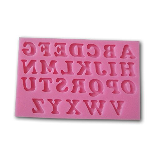 Allforhome (TM) 26 Uppercase Letters Alphabet Shaped 3d Silicone Cake Fondant Mold Cake Decoration Tools Soap Candle Moulds