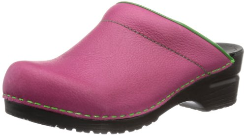 Purple Eden Sabots femme Open Mules Sanita et Pink Fuchsia 8qOwP5
