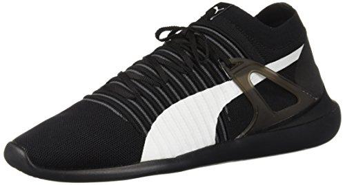 (PUMA Men's Ferrari Evo Cat Sock Lace Sneaker, White Black, 7 M US)