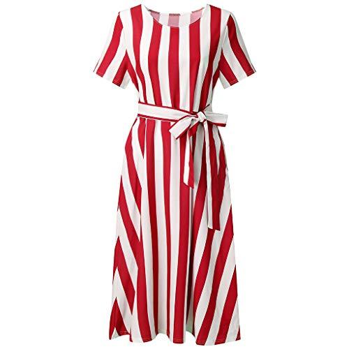 - WEISUN Women Vintage Boho Dress Summer Sleeve Beach Printed Dress Lace Up Short Mini Dress Sale Today Red
