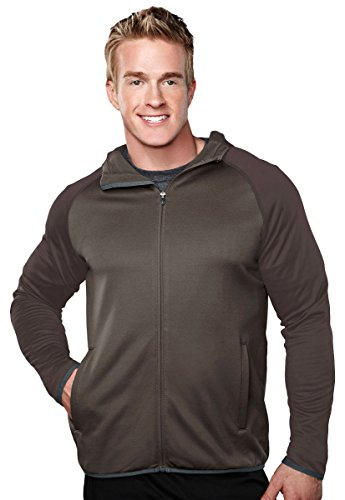 - Tri-mountain Mens 100%Poly Fleece long sleeve ULTRA COOL jacket with hood. 7389 - BRITISH TAN/BROWN_4XL