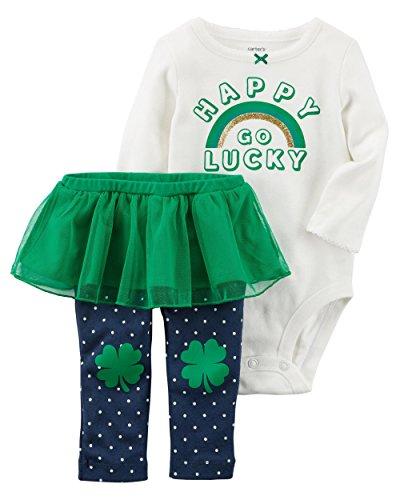 Carter's Baby Girls' Happy Go Lucky Top and Leggings Set Newborn