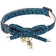 Necoichi Zen Fish Charm Cat Collar (Blue)