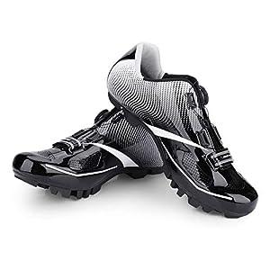 41uVq2ro%2BiL. SS300 Alomejor 1 Paio Scarpe da Ciclismo Sistema da Uomo Anti-Skid Scarpe da Bici per Adulti