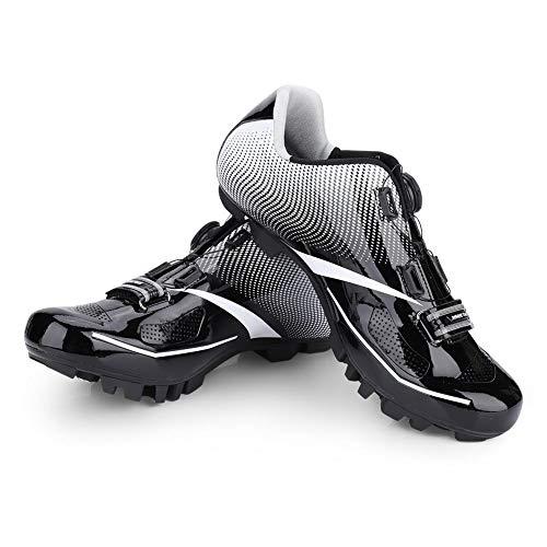 VGEBY - 1 par de Zapatos de Ciclismo, Sistema SPD Transpirable y Antideslizante, con Bloqueo automático, para Bicicleta de...