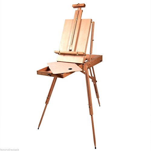 - Shop4Omni French Style Portable Tripod/Desktop Wooden Artist Easel w Carry Strap