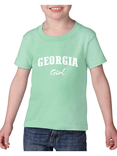 Georgia State Flag Georgia Girl Atlanta Toddler Heavy Cotton Kids Tee (3TG) Mint -