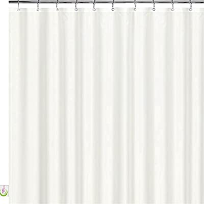 Mildew Resistant Fabric Shower Curtain - 72x72 White polyester Curtain for Bathroom - Waterproof Odorless Eco Friendly Anti Bacterial - Heavy Duty Metal Grommets - Creatov Design - 100% WATERPROOF & MOLD RESISTANT SHOWER CURTAIN: This shower curtain is 100% waterproof as all shower curtains should be . It is resistant to mold, bacteria and mildew build-up COMES WITH RUST PROOF METAL GROMMETS: Comes with Rustproof metal grommets, which give the curtain a sophisticated look and protect the curtain from ripping around the rings. FULL STANDARD BATH SIZE: The fabric shower curtains for bathroom measures at 72 inches wide by 72 inches long to fit standard size tub/shower areas. All shower curtain Rings are included. - shower-curtains, bathroom-linens, bathroom - 41uVr7LhWDL. SS400  -