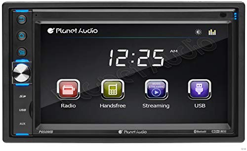 Planet Audio P650MB Multimedia Car Stereo - Double Din, Bluetooth Audio and Hands-Free Calling, MP3 Player, USB/SD Ports, AUX Input, AM/FM Radio Receiver, (No CD/DVD)