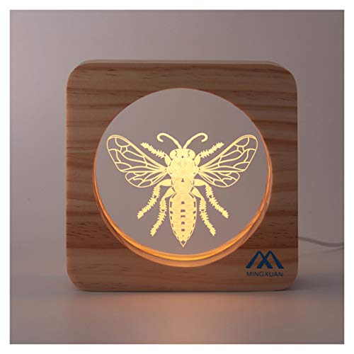 Bee 3D Night Light LED Bulb USB Power Source Long Lasting Low Energy Consumption Cute Gift to Child Babyroom Decor