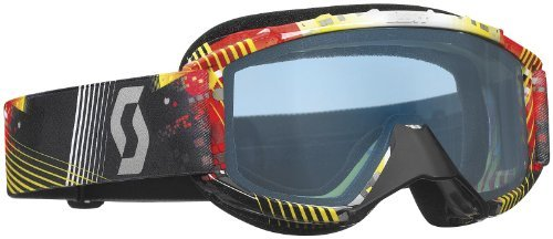 Scott Sports 89Si Youth Snowcross Goggles with ACS Rose Lens (Tangent Red/Yellow, One Size)