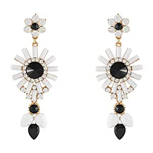 Just Showoff Alloy Floral Earrings