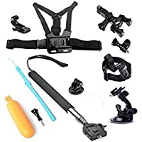 YFY 6-In-1 Basic Outdoor Sports Accessories Kit for GoPro Hero Cameras