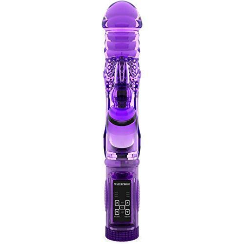 Vibrateur de lapin silencieux avec vitesse 12 paramètres - Best Adult Sex Toy pour femmes & hommes - Clit maximale + G Spot Stimulation - corps de Silicone Durable avec deux moteurs - résistant à l'eau - en les taquinant les sensations fortes