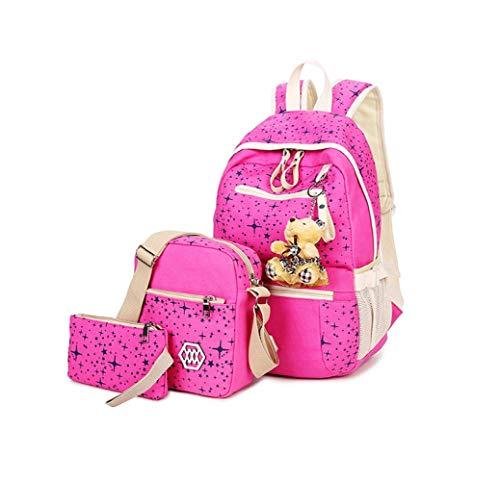 Messenger Tre Bag Stampa Crossbody Borsa Ragazza Di MYLL Sacchetti Zaino Star Zaino Green Pink Viaggio Bags Scuola Tela Scuola Spalla A qfTOf7F6