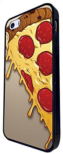 295 - Yum Yum Pizza Slice Cheese Design iphone SE - 2016 Coque Fashion Trend Case Coque Protection Cover plastique et métal - Noir