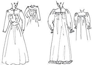 702a319e4f All about Amazoncom Prairie Dress Or Victorian Nightgown Pattern ...