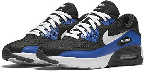 Nike Air Max 90 Ultra SE GS Black White Game Royal Grade School, 5 M US Big Kid by NIKE