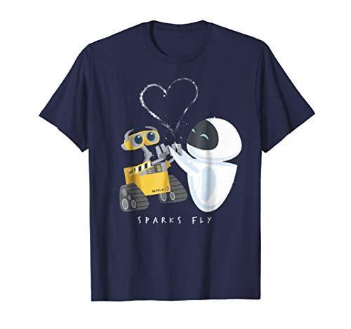 Disney Pixar Wall-E Eve Heart Sparks Fly T-Shirt]()