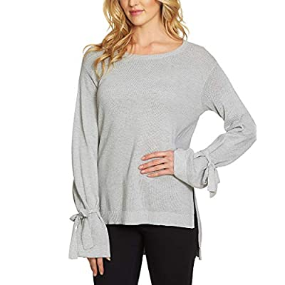 1.State Womens Long Sleeve Crewneck Sweater w/Sleeves Cuff Ties at Amazon Women's Clothing store
