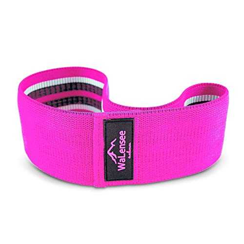 Walensee Hip Bands, Leg Bands, Resistance Bands Non Slip, Hip Bands for Workout Squats, Butt, Legs, Thigh and Hip Workout, Glute Bands,Hip Sling, Soft Design Bands (Pink - Large)