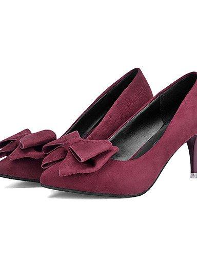 GGX/Damen Schuhe Fleece Sommer Heels Heels Casual Stiletto Heel andere schwarz/dunkelgrün/Burgund dark green-us5 / eu35 / uk3 / cn34