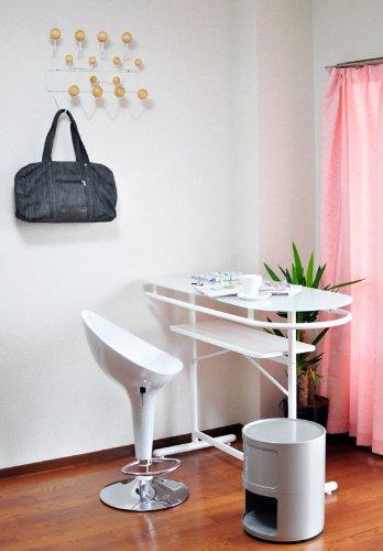 強化ガラス カウンターボードテーブル 115cm幅 ホワイト(白) 棚板付き PHW-1145-WH B006YJP0WYホワイト