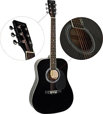 Steinbach 4/4 Guitarra acústica dreadnought con tilo Negro: Amazon ...