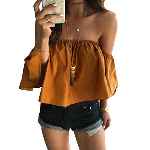 malltop-sexy-women-summer-solid-off-shoulder-top-casual-blouse-s-yellow