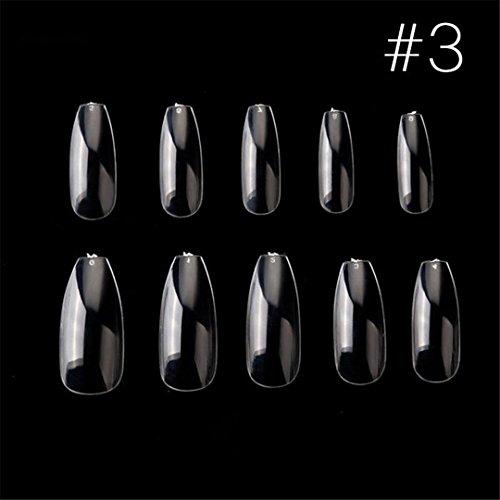 100Pcs/Box New Ballerina Nail Tips Full Nails Coffin Shape Artificial French Fake Nail Tip Salon Decorated Transparent Fake Nail 3 -