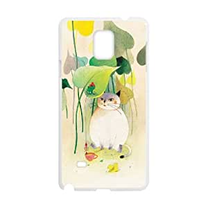 Fggcc Cat And Fish In Love Protective Hard Case for Samsung Galaxy Note 4,Cat And Fish In Love Note4 Case Cover (pattern 11)