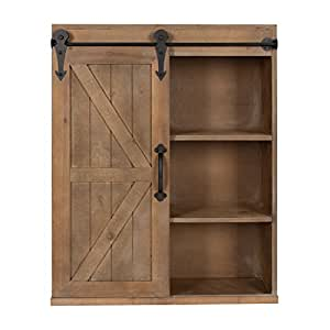 Amazon.com: Kate and Laurel Cates Wood Wall Storage ...