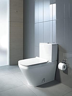 """Duravit 2160010000 Durastyle One-Piece Toilet Bowl with 12"""" Rough-In, 14 5/8"""" x 27 1/2"""", Dual Flush (Bowl Only)"""