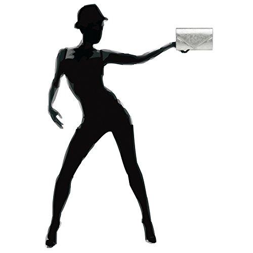 CASPAR TA349 Bolso de mano fiesta para mujer / Clutch elegante metalizado Plata