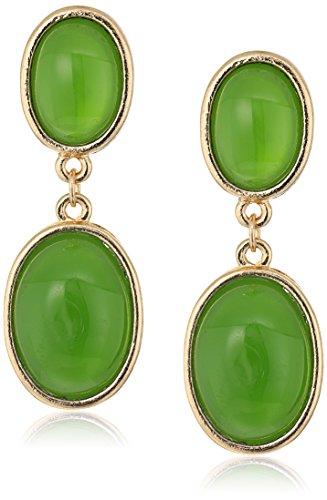 Cabochon Oval Earrings - 4