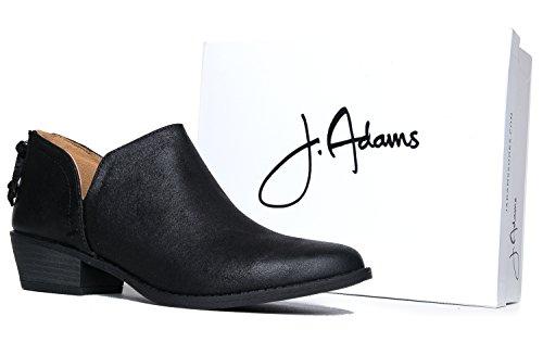 J Toe Boot Western Slip up Cowboy Womens Adams ZooShoo Zip Black on Heel Bootie Cute Low Levi Ankle Pointed Pu r7wzrfq8