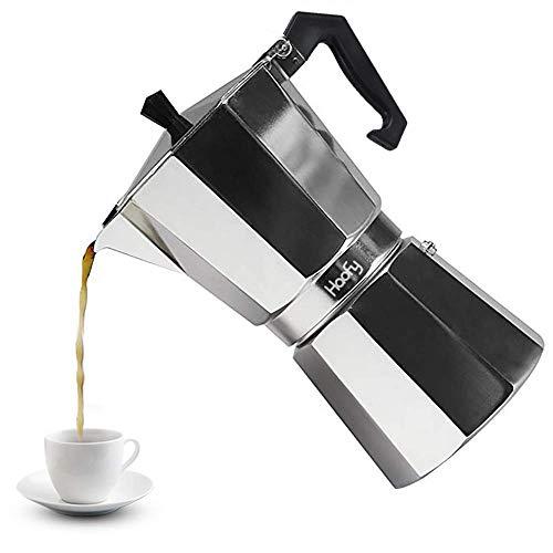 Cafeteras italianas de Acero Inoxidable Cafetera Espresso Moka Express Cafetera de Aluminio, 3 tazas / 6 tazas / 9 tazas…