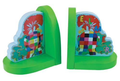 Elmer By David McKee - Bookends, By Rainbow Designs Elmer Elephant EL1186